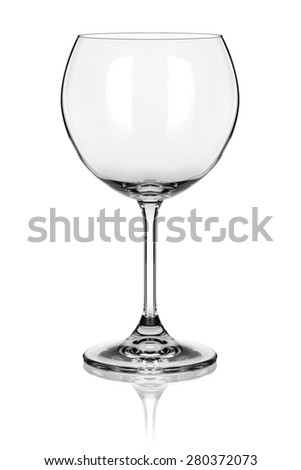 wine glass isolated on white background - stock photo