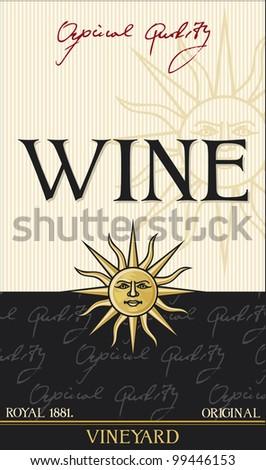 wine label (design) - stock photo