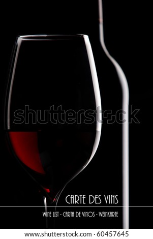 Wine list - stock photo