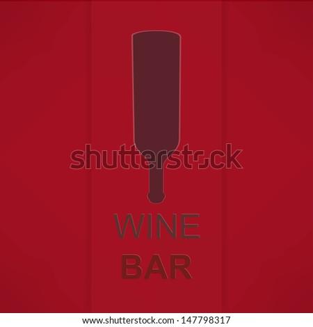 Wine List Menu Card Design template. - stock photo