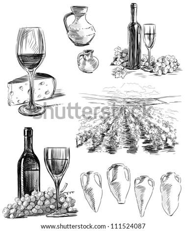 wine making - stock photo