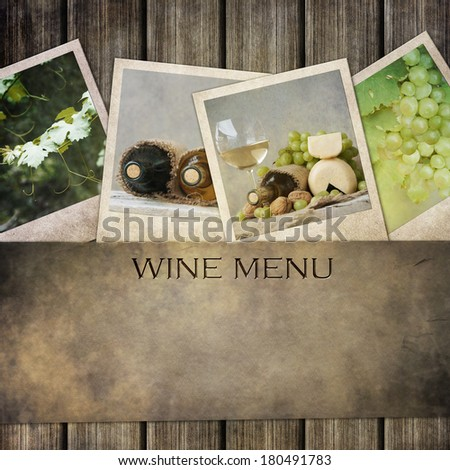 wine menu  - stock photo
