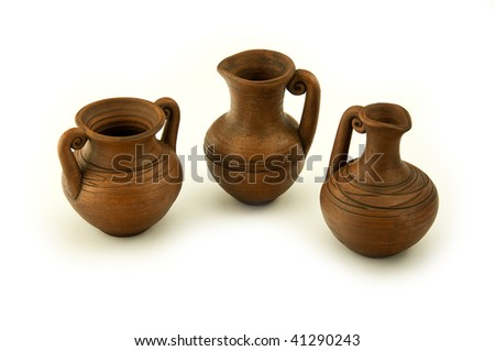 wine pitcher isolated on a white background - stock photo