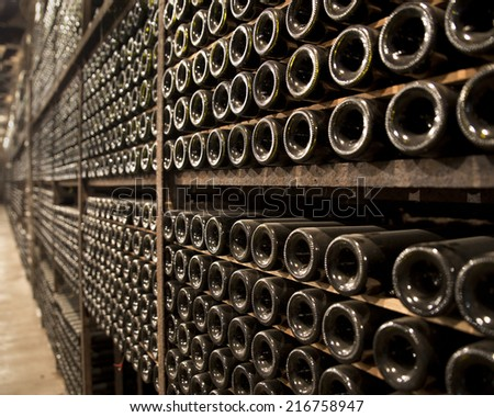 Old wine cellar stock photos images pictures for Old wine rack