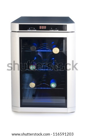 Wine refrigerator - stock photo