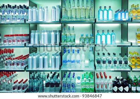 Wine shop - stock photo