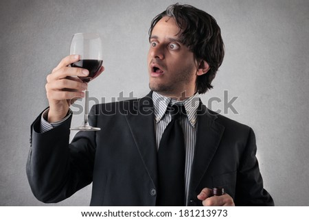 wine taste - stock photo
