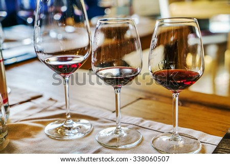 wine tasting - stock photo