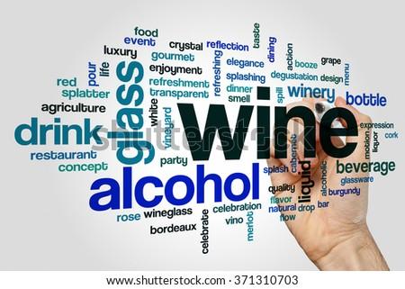 Wine word cloud - stock photo