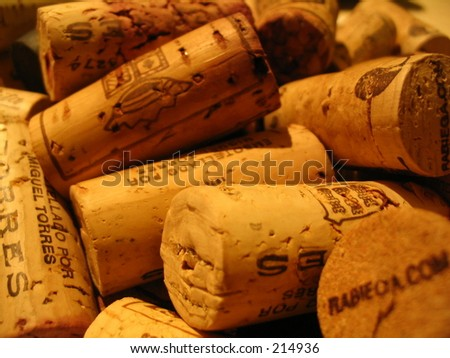 Winecorks - stock photo