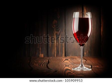 Wineglass of red win.jpg - stock photo
