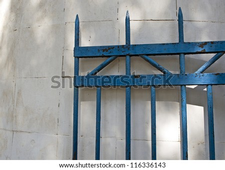 Wing of hammered gate - stock photo