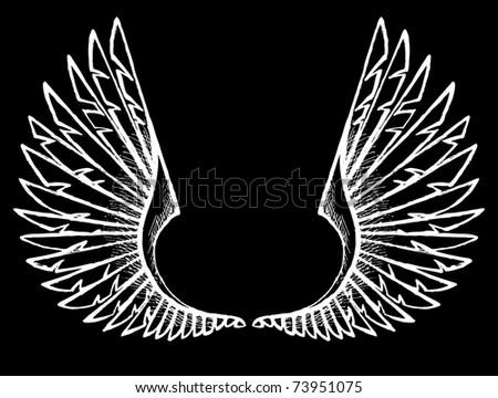 wings - stock photo