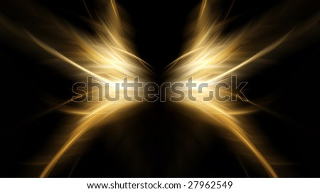 wings, abstract background - stock photo