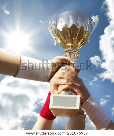 winner - stock photo