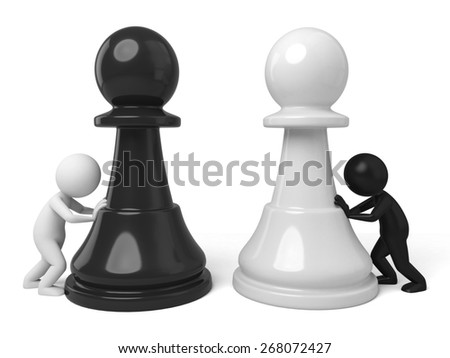 winner/3d people with a piece. 3d image. Isolated white background. - stock photo