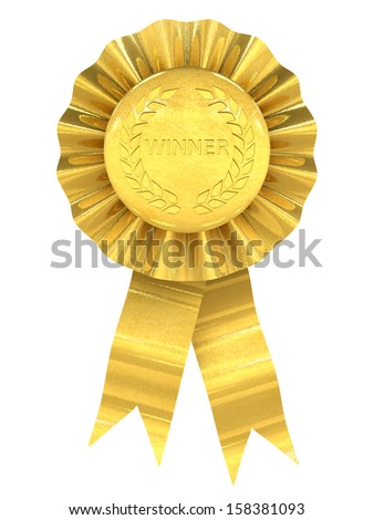 Winner , gold rosette - stock photo