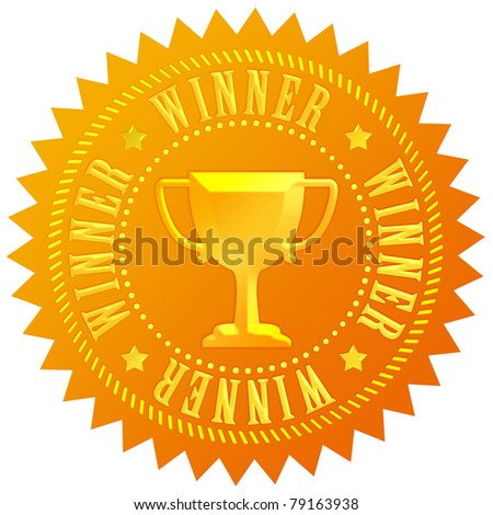 Winner gold seal - stock photo
