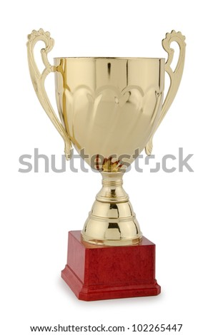 Winners cup isolated on the white - stock photo