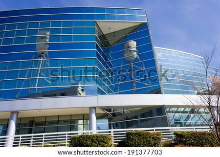 WINSTON-SALEM, NC, USA - MARCH 3, 2013: Wells Fargo Linden Center in Winston-Salem, NC. - stock photo