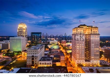 Winston-Salem, North Carolina, USA skyline. - stock photo