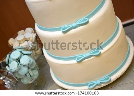 Wintage wedding dessert and decoration - stock photo