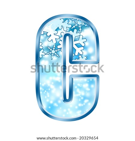 Winter Alphabet Letter C - stock photo