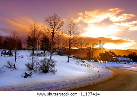 Winter at Bretton Woods, New Hampshire - stock photo