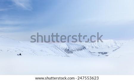 Winter auf Spitzbergen - stock photo