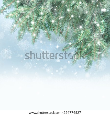 Winter background. - stock photo