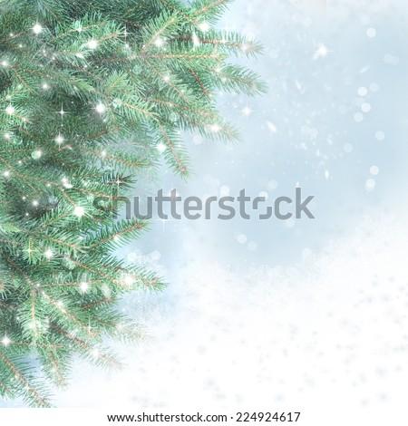 Winter background. - stock photo