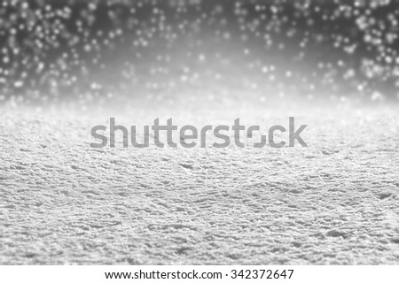 Winter background of snow in shades of gray - stock photo