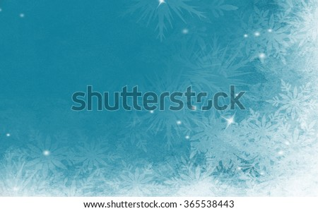 Winter background , snow, snowflakes - stock photo