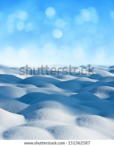 winter background with empty space - stock photo