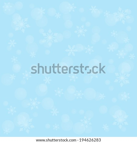 Winter background with snowflakes and joyful mood for your design. For web, printing, cards, greetings, wishes. raster version - stock photo