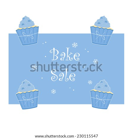 Winter Blue Cupcakes - Bake Sale - stock photo