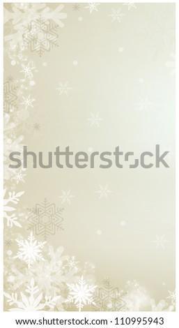 Winter/Christmas Background - stock photo