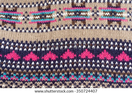 Winter Christmas sweater pattern - stock photo