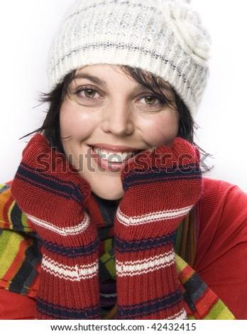 winter clothes - stock photo