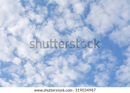 Winter clouds on the sky - stock photo