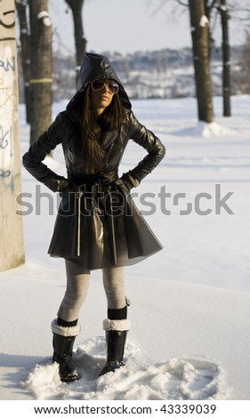Winter coat - stock photo