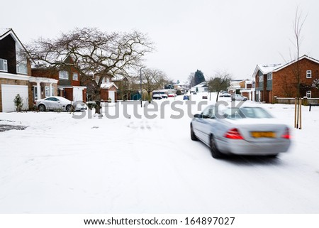 Winter driving - stock photo