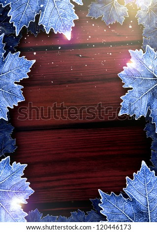 Winter Happy Christmas party poster background with space - stock photo