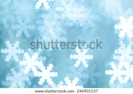 Winter holiday  background with snowflake shapes - stock photo