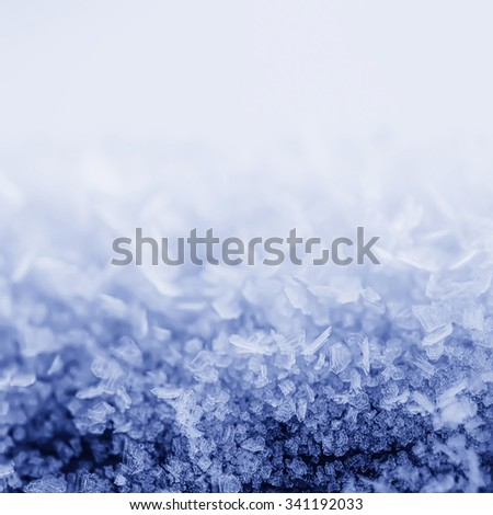 Winter iced blue violet pattern with snowflakes, vintage retro holiday seasonal background - stock photo