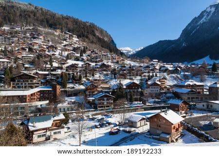 Winter in Alps - stock photo