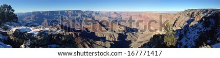Winter in Grand Canyon National Park, Arizona - stock photo