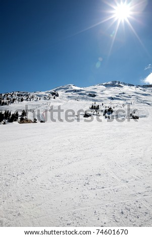 winter in the alps - beautiful landscape - stock photo