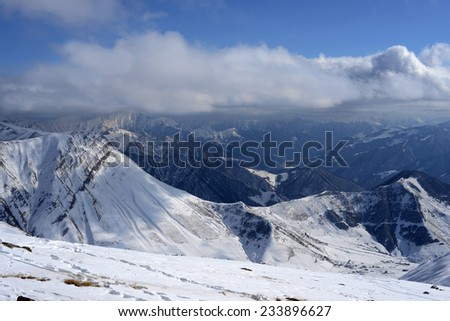 Winter in the Georgia mountains - stock photo