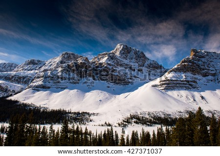 Winter in the mountains Banff National Park Alberta Canada - stock photo